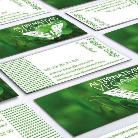 Cartes de visite de la société Alternative Veganes