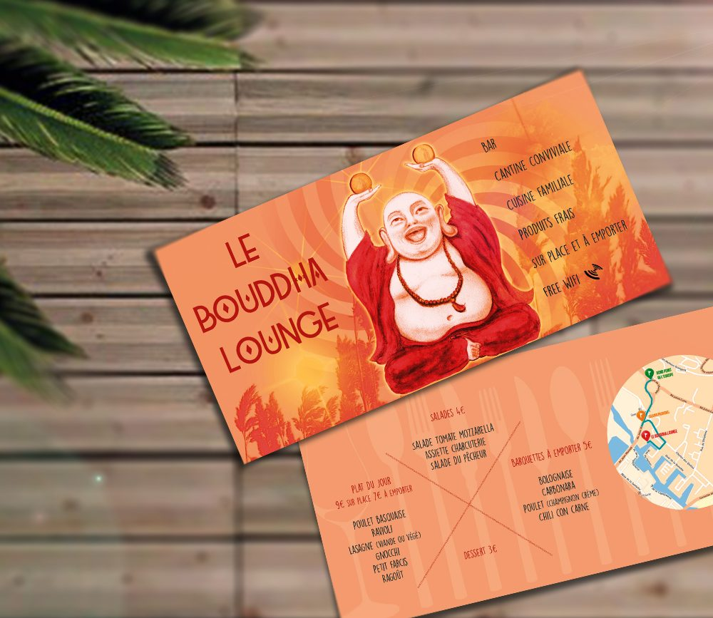"Flyers du bar ""Bouddha Lounge"" à Montpellier"