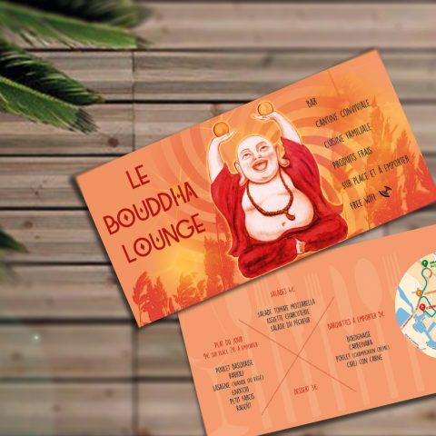 """Flyers du bar """"Bouddha Lounge"""" à Montpellier"""