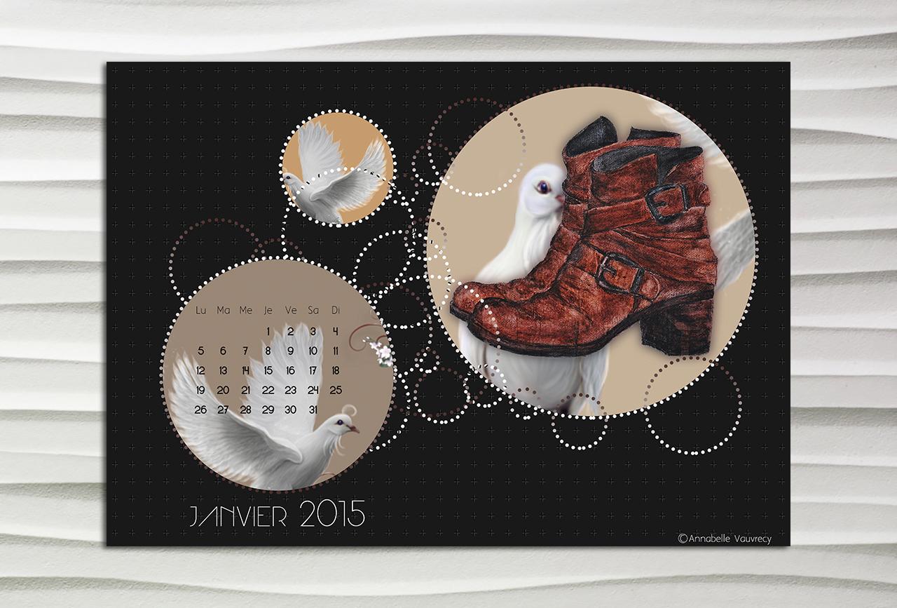 Calendrier du mois de Janvier pour le blog Smell of Female