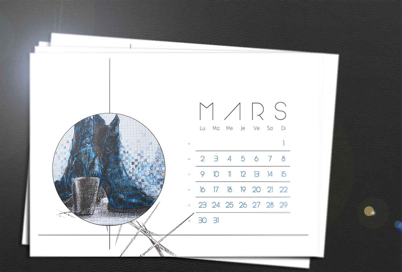 Calendrier du mois de Mars pour le blog Smell of Female