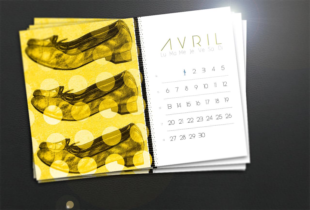 Calendrier du mois d'Avril pour le blog Smell of Female