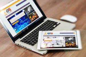 Présentation web design responsive sur tablette et ordinateur du site fortimelp.fr