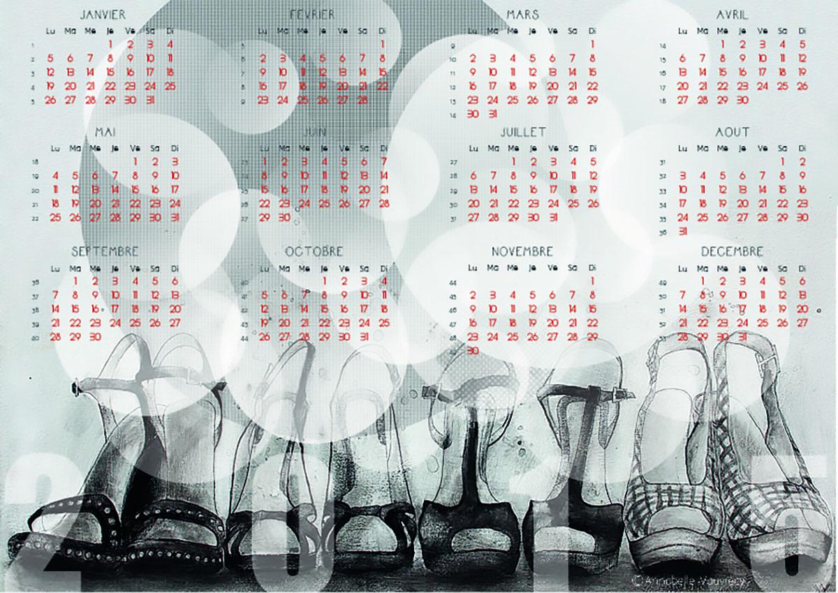 Calendrier année 2015 pour le blog Smell of Female